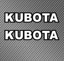 """2x Kubota Tractor size 9.75"""" decals stickers diesel, 4x4, Hst, Ag, Hitch, Skid"""