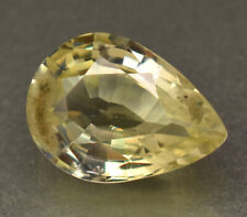4.35 Ct Certified Natural Ceylon Yellow Sapphire Pear Cut Loose Gemstone