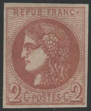 "FRANCE STAMP TIMBRE N° 40 Ba "" CERES BORDEAUX 2c ROUGE BRIQUE "" NEUF x TB SIGNE"
