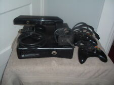 """Xbox 360 Black Console Slim Bundle """"Kinect Included & Game 2 Controllers Hdmi"""