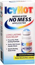 ICY HOT Medicated No Mess Applicator Pain Relieving Liquid 2.50 oz (Pack of 2)