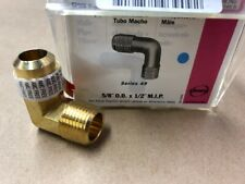 """5/8""""FL x 1/2""""MIP BRASS ELBOW FLARE BY MALE PIPE"""