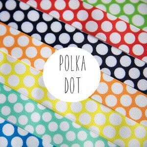 2 Metres - 22mm wide Polka Dot Ribbon