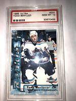 1995-96 Ultra Islanders Hockey Card #331 Todd Bertuzzi Rookie Gem Mint PSA 10