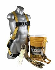 Guardian Fall Protection 00815 Bucket of Safe-Tie Roofer's Kit with 50' Lifeline