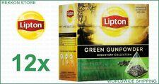 Full Pack Lipton Discovery Collection Green Gunpowder Tea 240 Tea Bags x12 Boxes