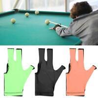 4Pcs Sports Snooker Billiard Cue Gloves Pool Left Hand Three Finger Unisex