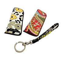 VERA BRADLEY Keychain Plus  (2) Eyeglass Cases - Sold as Set - FREE SHIPPING