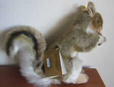 """Hansa """"Portraits of Nature"""" Plush Red Squirrel nibbling nut, with tag, ~9.5"""" H"""