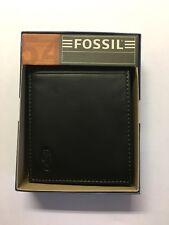 Fossil Männer Geldbörse Portmonee - Leder - Schwarz
