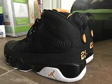VNDS Nike Air Jordan 9 IX Retro Black Citrus White Size 12 Sf Giants Orange