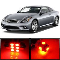 11 x Premium Red LED Lights Interior Package for Infiniti G37 Coupe 2008-2015