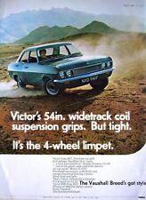 Vintage 1968 Vauxhall 'VICTOR 2000' Saloon Car Advert - Original Auto Print Ad