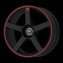 16 inch HONDA CIVIC ACURA INTEGRA Motegi MR116 Black Red WHEELS RIMS 4x100