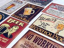 15 PIECE BAR SIGN BULK LOT! Retro Beer Pub Tin Signs Funny Home Wall Decor USA
