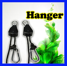 New Hydroponic Heavy Duty HANGER x 2 PCS up to 68KG(1 Pair) Rope Ratchet