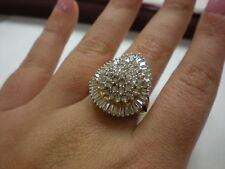 LADIES 14KYG DIAMOND 2.00CTW CLUSTER RING, 9.5GR (xpv348-01)