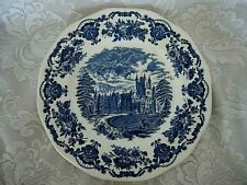 Vintage Wedgwood Cobalt Blue Balmoral Castle Plate - Made in England
