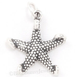 STARFISH Charm Nautical Pendant Ocean BEACH charm STERLING SILVER 925 .925