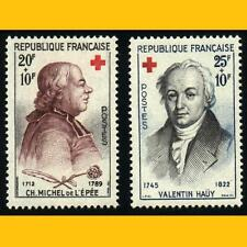 2 TIMBRES POSTE FRANCE 1959 -  CROIX-ROUGE - N° 1226/1227 - NEUFS **