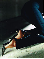 PUBLICITE ADVERTISING 114  1997  GUCCI  collection escarpins chaussures