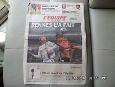 L'EQUIPE DU 5 NOVEMBRE 2006 OL LYON RENNES  J51