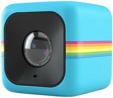 Polaroid Compact Cube HD Action Video Camera DVR Sports Helmet Camcorder - Blue