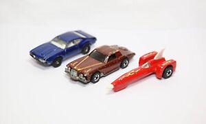 Hot Wheels Blackwall Stutz Blackhawk & Evil Knievel Rocket Car & Real Riders