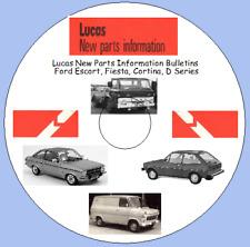 Lucas New Parts Information Bulletins  Ford Escort, Fiesta, Cortina, D Series