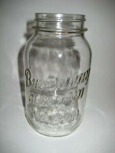 Lot of 8 Vintage Brockway Clear-Vu Quart Size Mason Jar