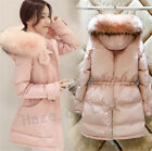 Raccoon Fur Collar Winter Womens Duck Down Coat Jacket Puffer Outwear Size