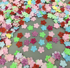 500pcs Mini Flower Mixed Cherry Felt Appliques Cardmaking Crafts 13mm
