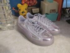 PUMA Basket  Sneakers Silver Women's Size 9 NWOB