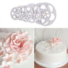 6 Stück Blumen Ausstecher Rose Cutter Fondant Mold Sugarcraf Kuchenform Dekor DE