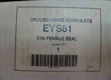 """Crouse Hinds EYS81 3"""" Female Explosion Proof Seal New"""