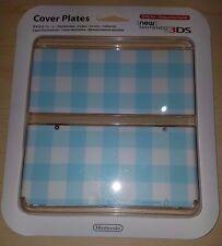 Nuevo 3DS Placa de cubierta de cuadros azules-Nintendo 3DS