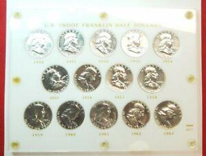 1950-1963 Proof Franklin Half Dollar Set in a Capitol Holder