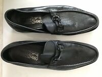 Salvatore  ferragamo  Men's Black Leather Loafers Sz 9 D
