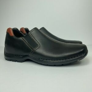 Cole Haan Zeno Men's Size US 8.5 M Black Leather Split Toe Loafer Shoes C24673