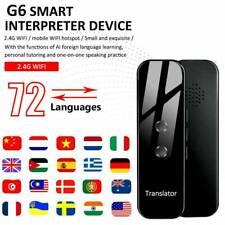 Smart Instant Real Time Voice Interpreter 72+ Languages Translator Wifi