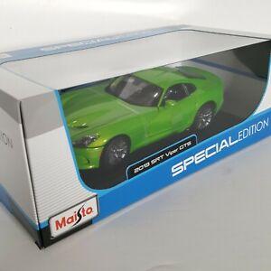 Maisto 1:18 2013 Dodge SRT Viper Green GTS Special Edition