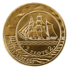 2005 Coin of Poland 2zl - Sailing Vessel - 2 zloty and 5 zloty of 1936 issue