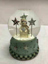 Vintage Snowman Music Snow Globe-Christmas Decor ceramic