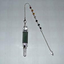 7 Chakra-pendel mit grünem Aventurin Gewicht 15 Gramm