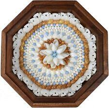 "Seashell Art SAILORS VALENTINE 6"" Octagon Shell Mosaic - Blueberry Tart"