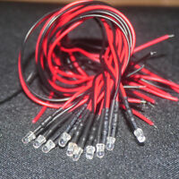 3MM Pre-Wired Pre-soldered LED Ultra Bright 9V ~ 12V LED -UK First class postage