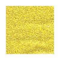 Delica Beads Miyuki 11/0 Seed Beads DB1572 Canary Yellow AB Opaque Cylinder