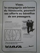 10/1981 PUB VIASA VENEZUELIAN AIRLINES VENEZUELA CARACAS ORIGINAL FRENCH AD