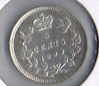 1899 Canada Silver Five Cents