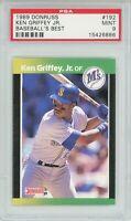 1989 Donruss Baseball's Best KEN GRIFFEY JR. Rookie RC (Mariners) HOF PSA MINT 9